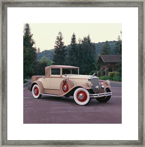 1929 Pierce-arrow Model 133 Convertible Framed Print by Car Culture