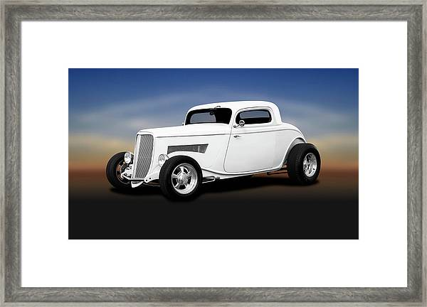 1933 Ford 3 Window Coupe   -  1933ford3windowcoupewhite196599 Framed Print by Frank J Benz