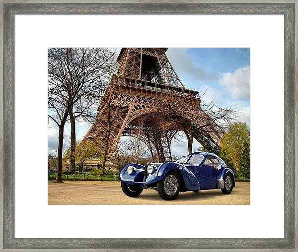 1938 Bugatti Type 57sc Electron Framed Print by Car Culture