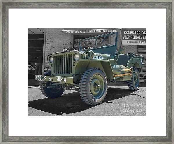 1942 Willys Gpw Framed Print