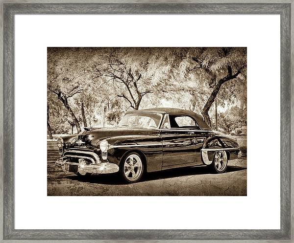1950 Oldsmobile 88 -004bwcl Framed Print