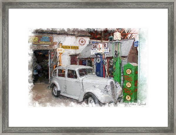 1950s Garage Framed Print