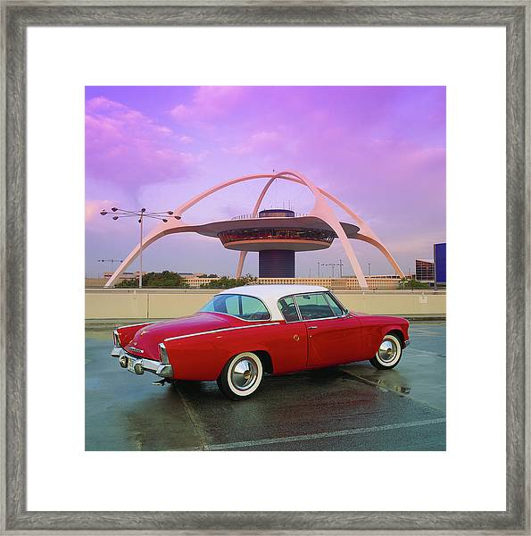 1953 Studebaker Starliner Coupe At Lax Framed Print