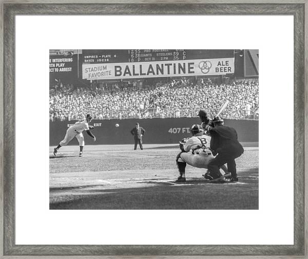 1956 World Series - Game 5  Brooklyn Framed Print