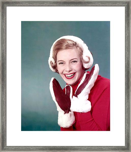 1959. A Portrait Of A Woman With Blonde Framed Print by Popperfoto