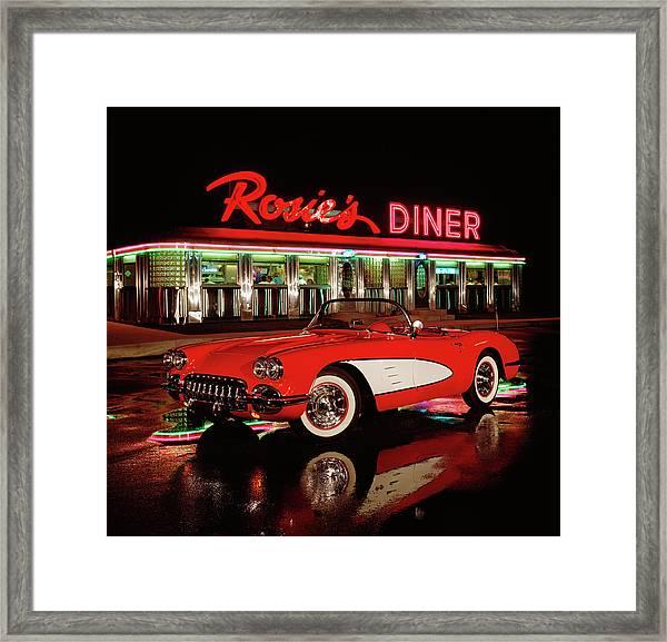 1960 Chevrolet Corvette Convertible Framed Print by Car Culture
