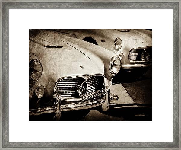 1960 Maserati Grille Emblem-1098scl3 Framed Print
