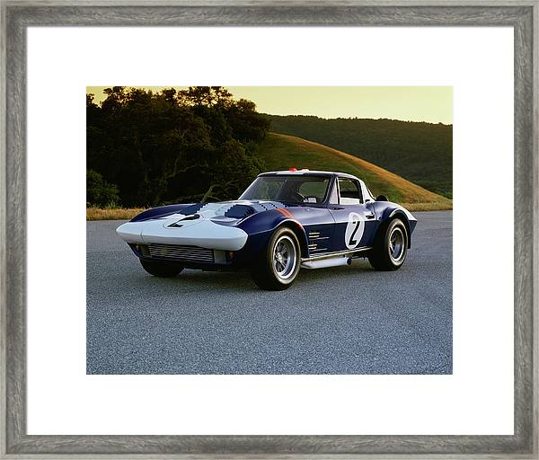 1963 Chevrolet Corvette Grand Sport Framed Print by Car Culture