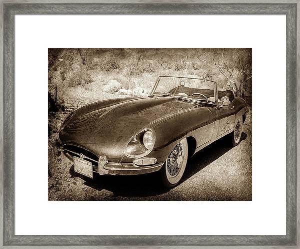 1963 Jaguar Xke Roadster-111scl Framed Print
