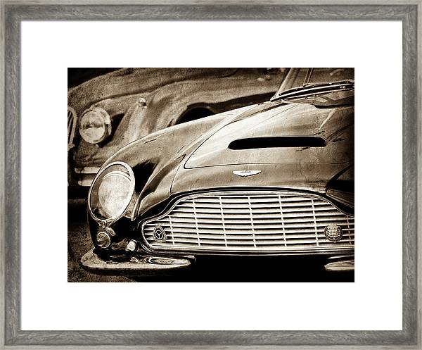 1965 Aston Martin Db6 Short Chassis Volante Grille-0970s2 Framed Print