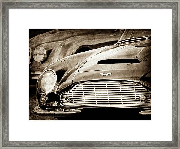 1965 Aston Martin Db6 Short Chassis Volante Grille-0970scl Framed Print