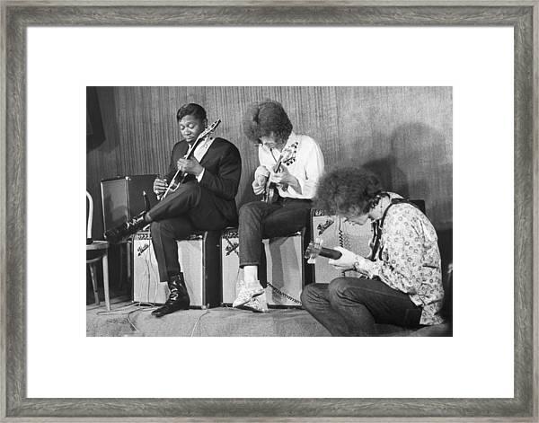 1967, New York City, Eric Clapton, B.b Framed Print