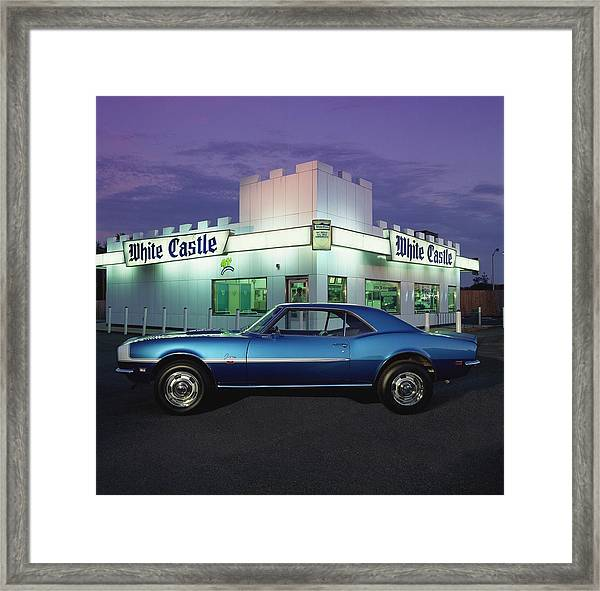 1968 Chevrolet Camaro Ss 396 Hardtop Framed Print by Car Culture