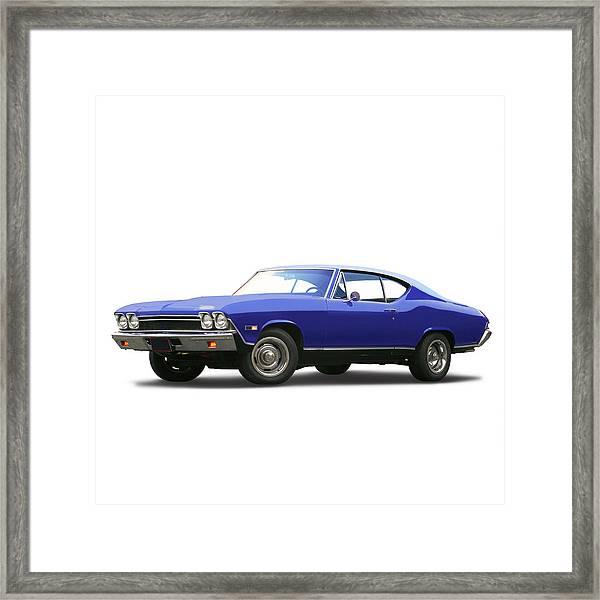 1968 Chevrolet Chevelle Ss 396 Framed Print