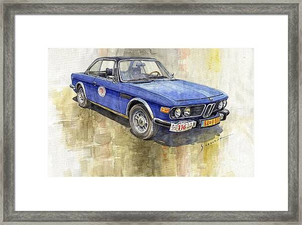 1972 Bmw 3.0 Csi Coupe  Framed Print