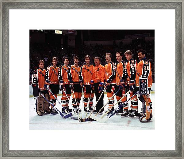 1986 38th Nhl All-star Game Campbell Framed Print