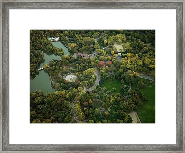 Aerial Photography Of  Manhattan Framed Print