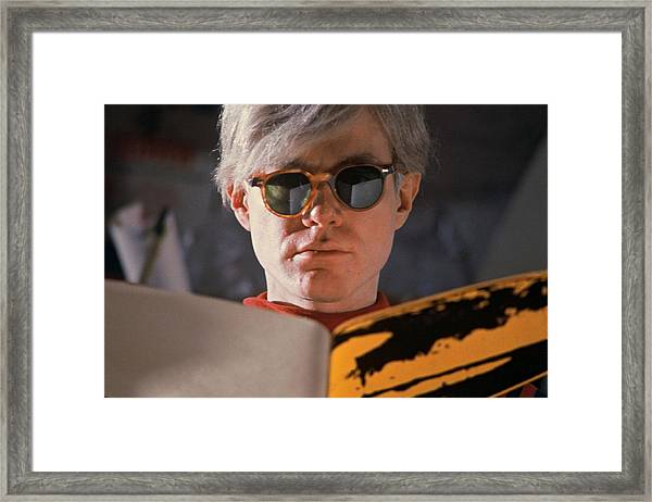 Andy Warhol In New York, United States Framed Print
