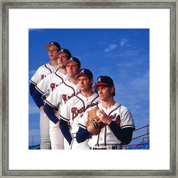 Atlanta Braves Framed Print by Ronald C. Modra/sports Imagery