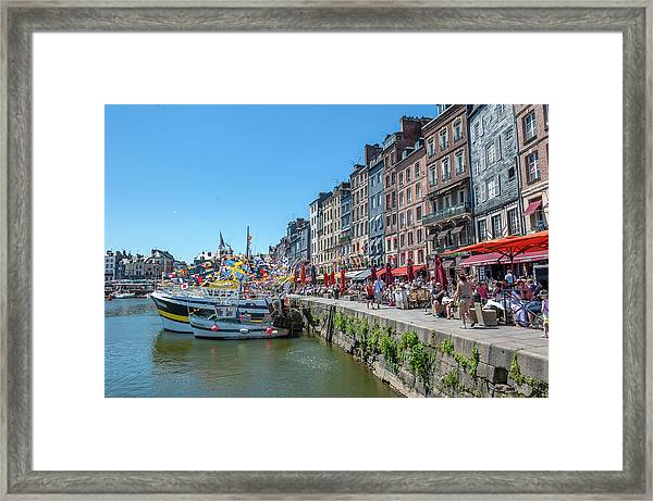 Avant Port, Honfleur, Normandy, France Framed Print by Lisa S. Engelbrecht