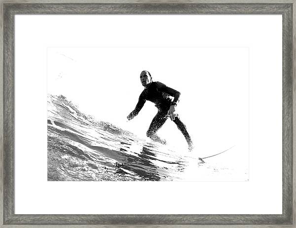Black And White Low Angle Perspective Framed Print by Trevor Clark