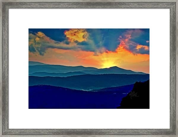 Blue Ridge Mountains Sunset Framed Print