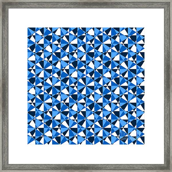 Crazy Psychedelic Art In Chaotic Visual Color And Shapes - Efg22 Framed Print
