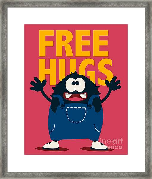 Cute Monster Vector Design Framed Print