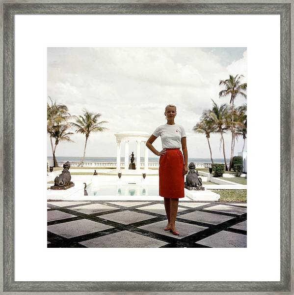 Cz Guest Framed Print by Slim Aarons
