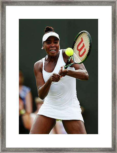 Day Three The Championships - Wimbledon Framed Print