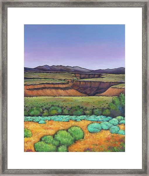 Desert Gorge Framed Print