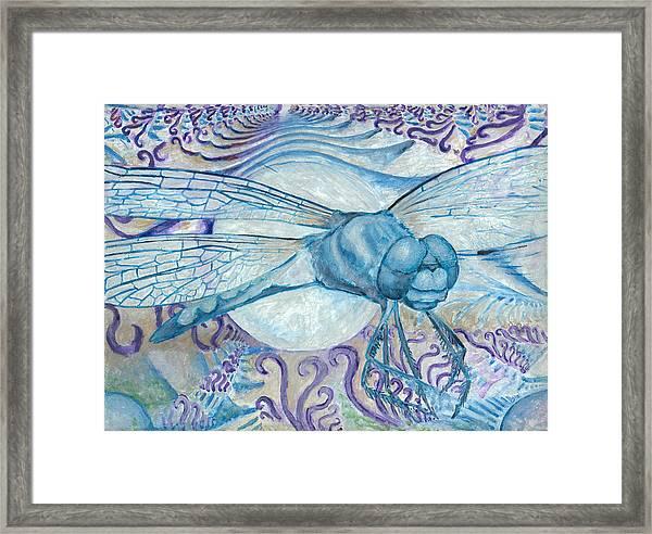 Dragonfly Moon Framed Print