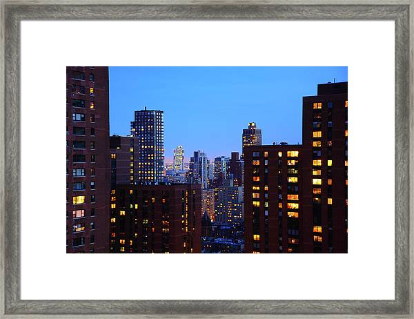 East Side, View From A Building In 92 Framed Print