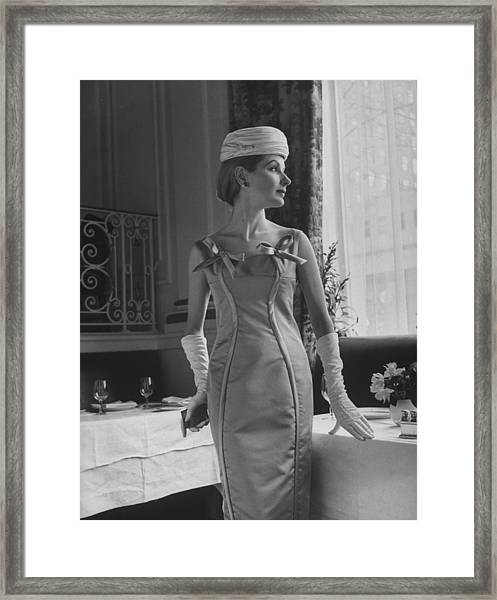Fasion By Charles James Framed Print by Nina Leen