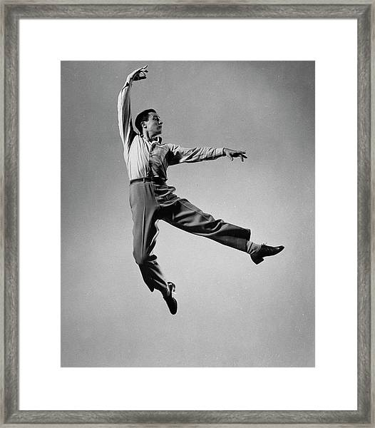 Gene Kelly Framed Print by Gjon Mili