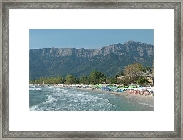 Golden Beach, Thassos, Thasos, Greece Framed Print