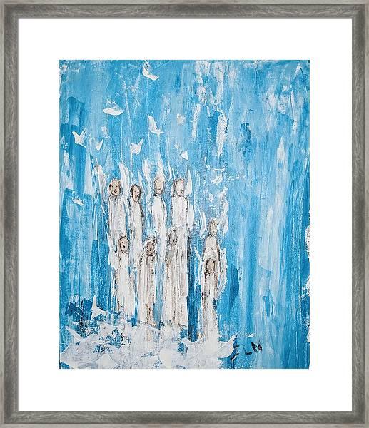 Heavenly Host Of Angels  Framed Print