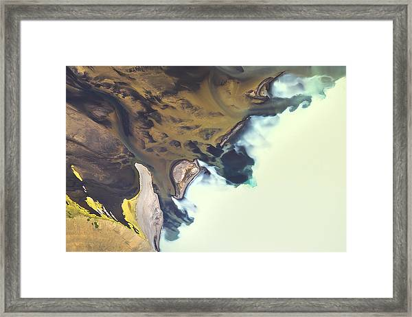 Iceland Aerial View Framed Print