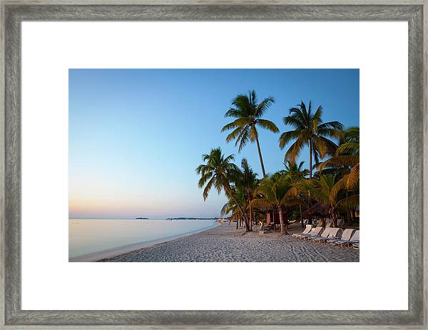 Idyllic White Sand Beach, Negril Framed Print