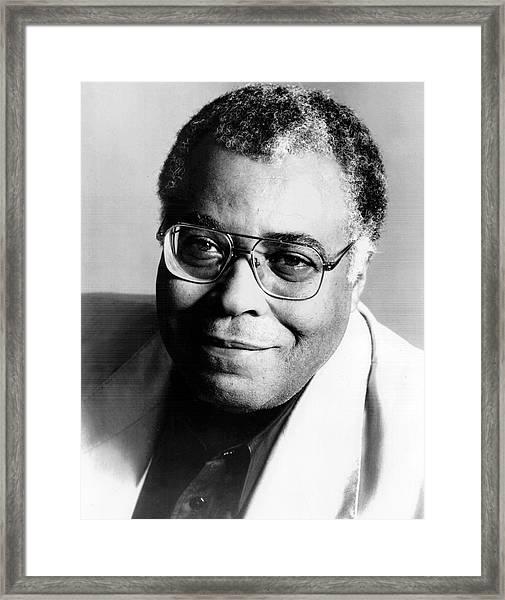 James Earl Jones Portrait Framed Print by Afro Newspaper/gado