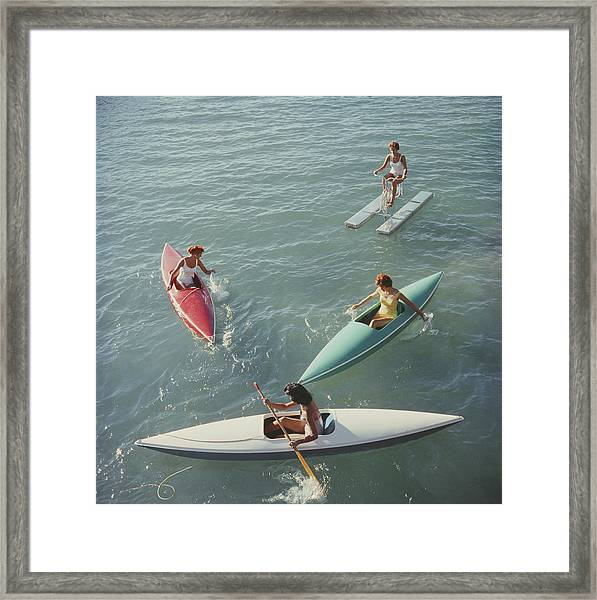 Lake Tahoe Trip Framed Print by Slim Aarons