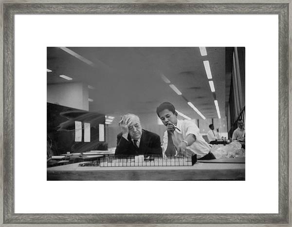 Ludwig Mies Van Der Rohe Framed Print by Frank Scherschel
