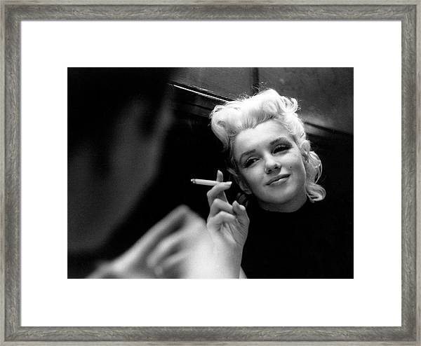 Marilyn Candid Moment Framed Print