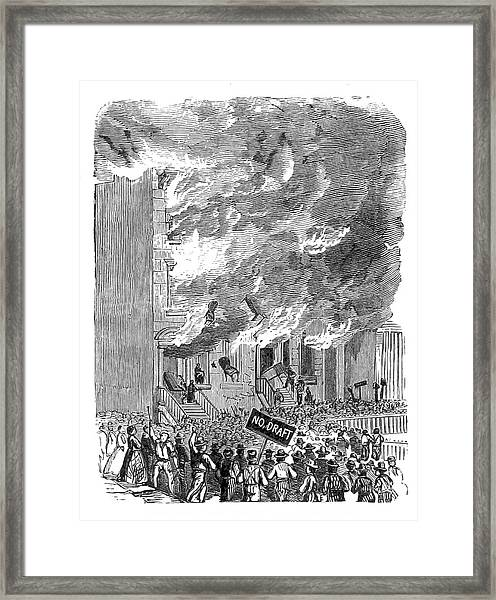 New York City Draft Riots, 1863 Framed Print by British Library