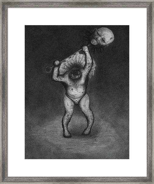 Nightmare Rattler - Artwork Framed Print