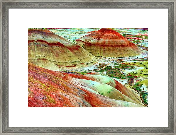 Framed Print featuring the photograph Painted Hills John Day Fossil Beds by Dee Browning