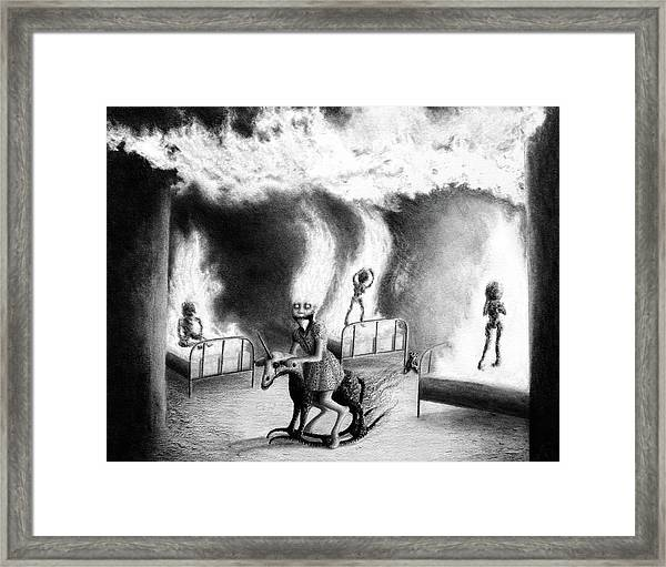 Philippa The Crackling Rider - Artwork Framed Print