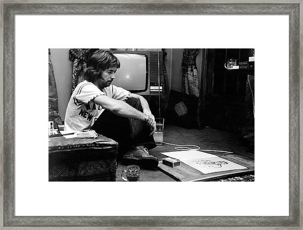 Photo Of Eric Clapton Framed Print