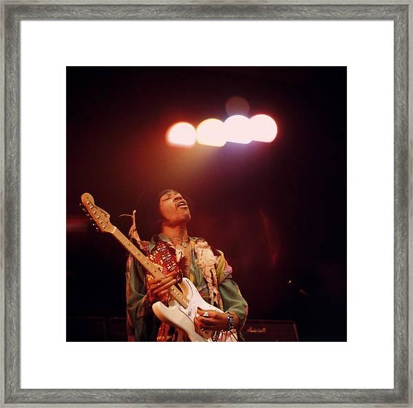 Photo Of Jimi Hendrix Framed Print