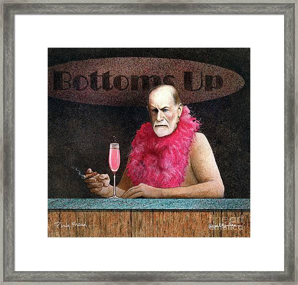 Pink Freud... Framed Print